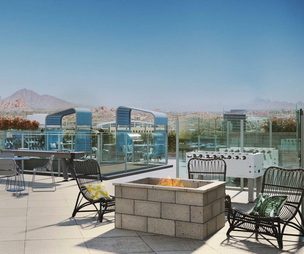 Tempe apartment pool deck